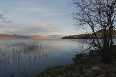 Kastoria lake, winter. North Greece.